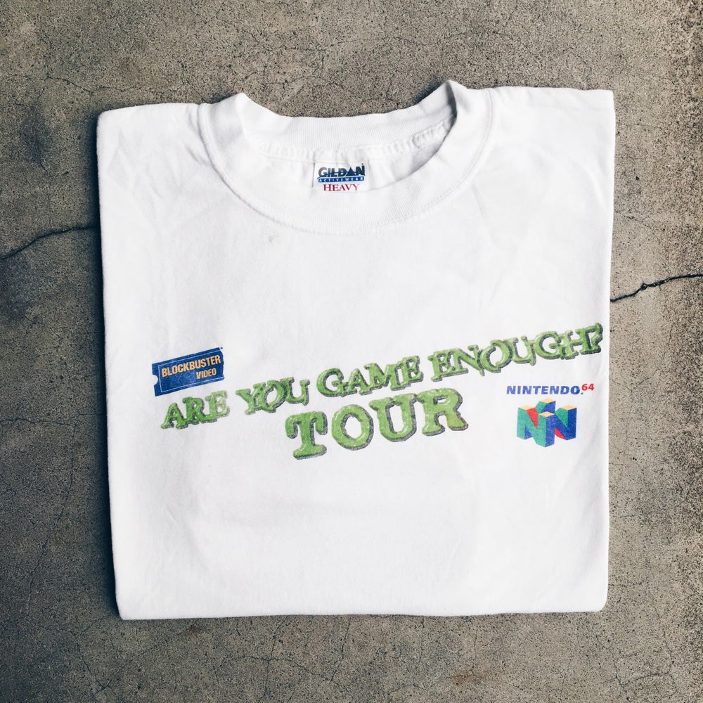 Image of Original Early 2000's Blockbuster Nintendo Promo Tee.
