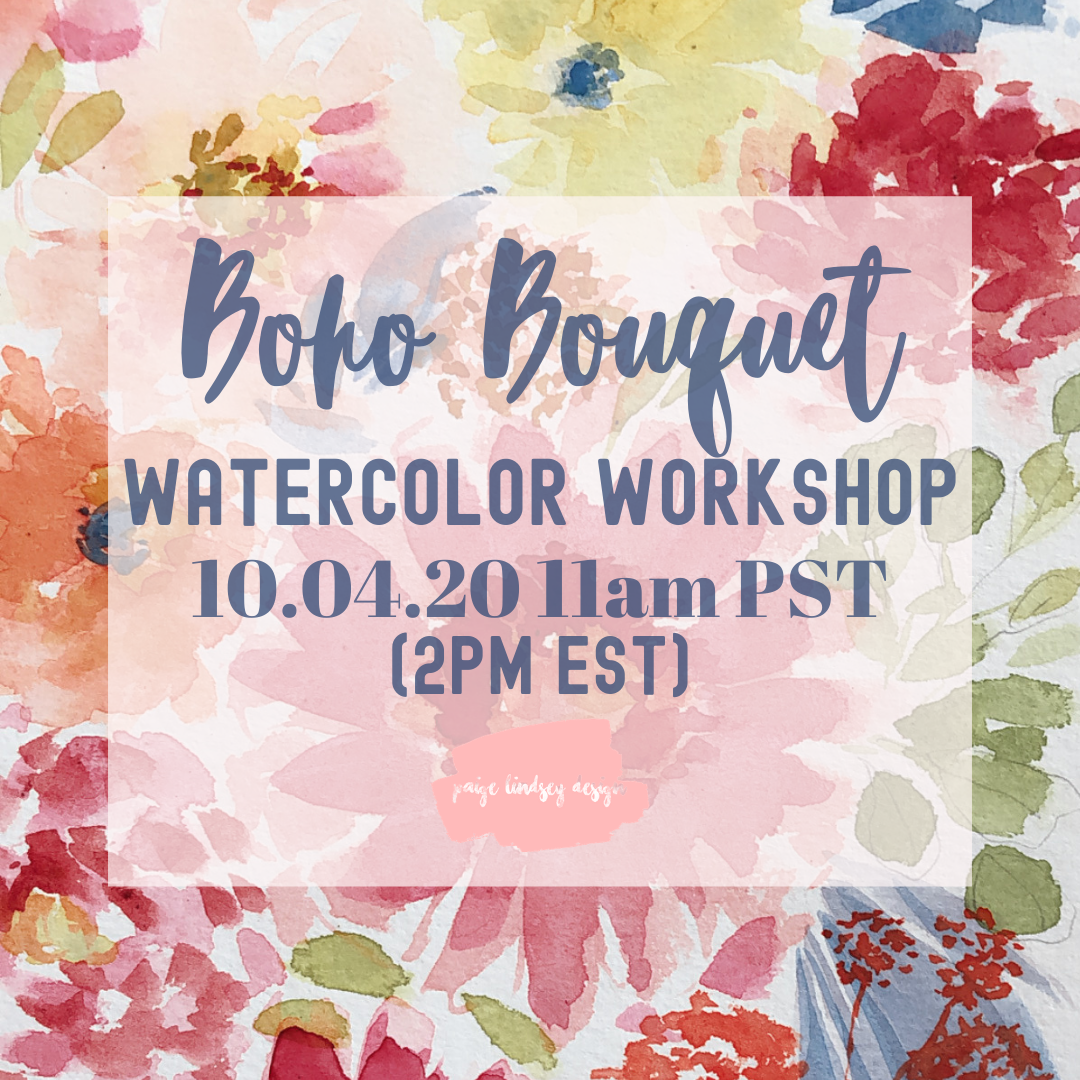 Image of Learn How To Paint A Boho-Chic Bouquet