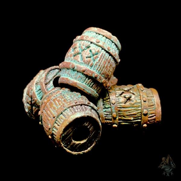 Image of HandMade Copper Barrel Bead (ShipWreck Patina)