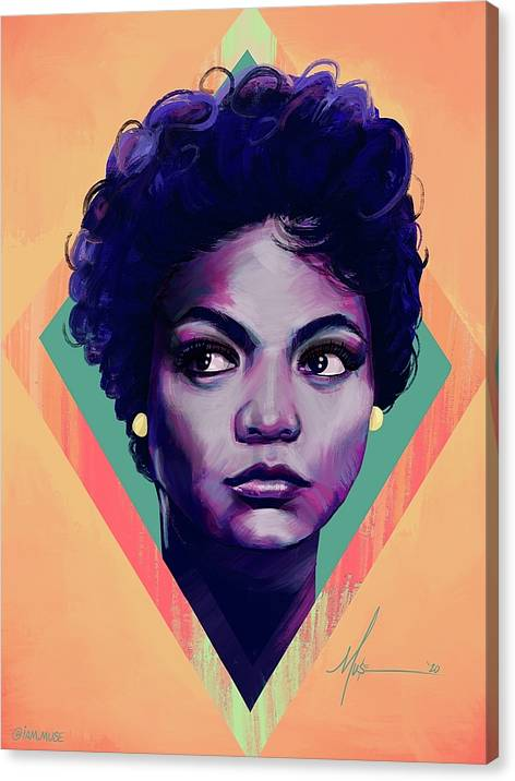 "Image of ""Eartha Kitt"" Limited Edition Canvas Prints"