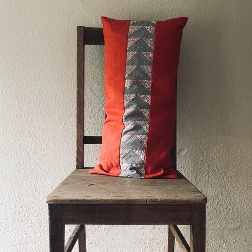 Image of Flying Geese Bolster Cushion in Burnt Orange