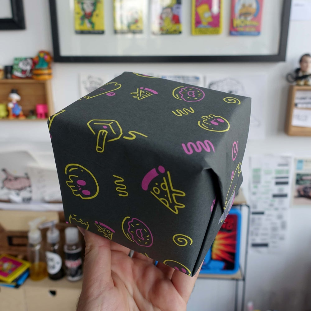 The Rad Neon Wrapping Paper