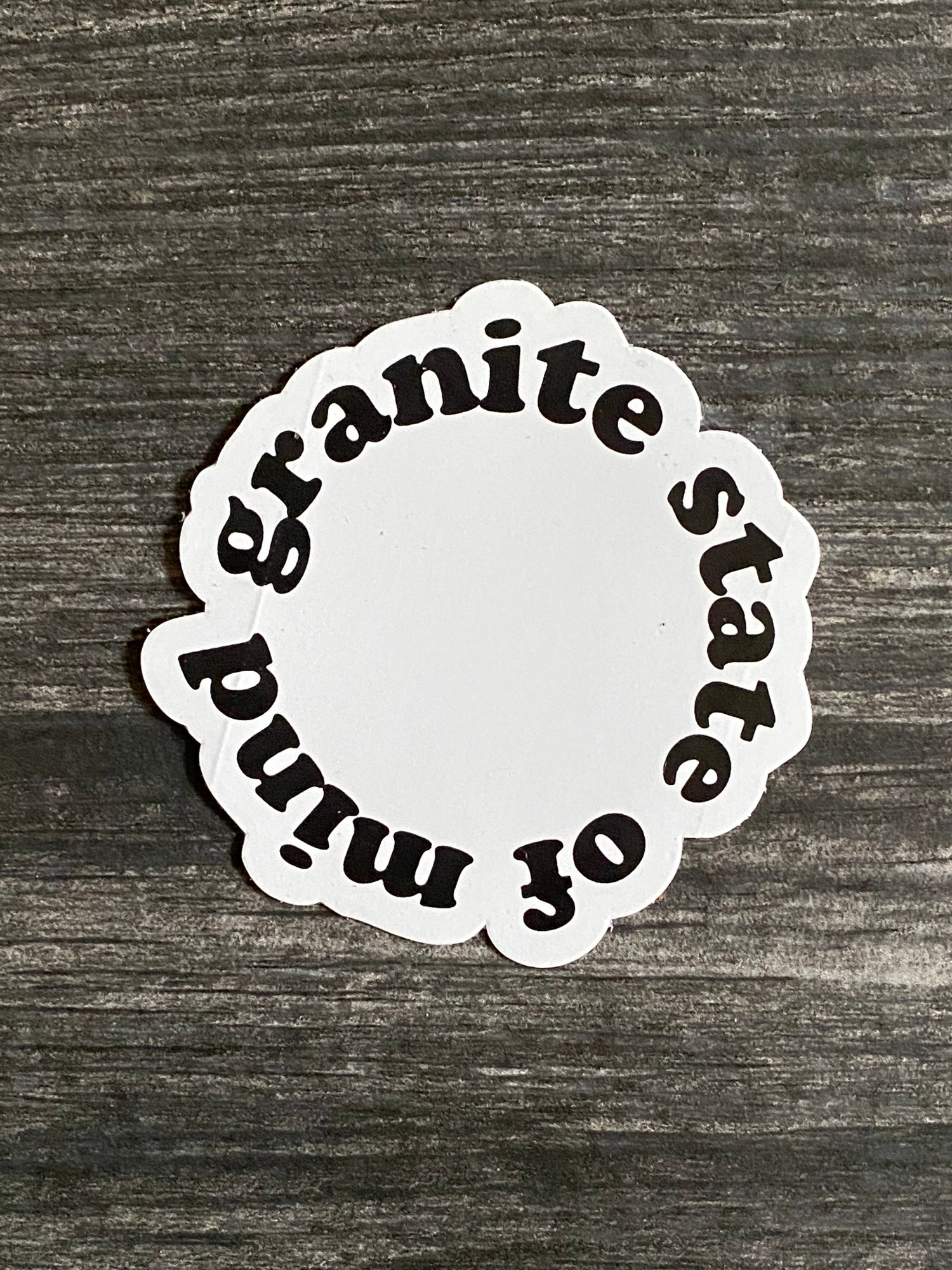 "Image of Granite state of mind sticker 3"""