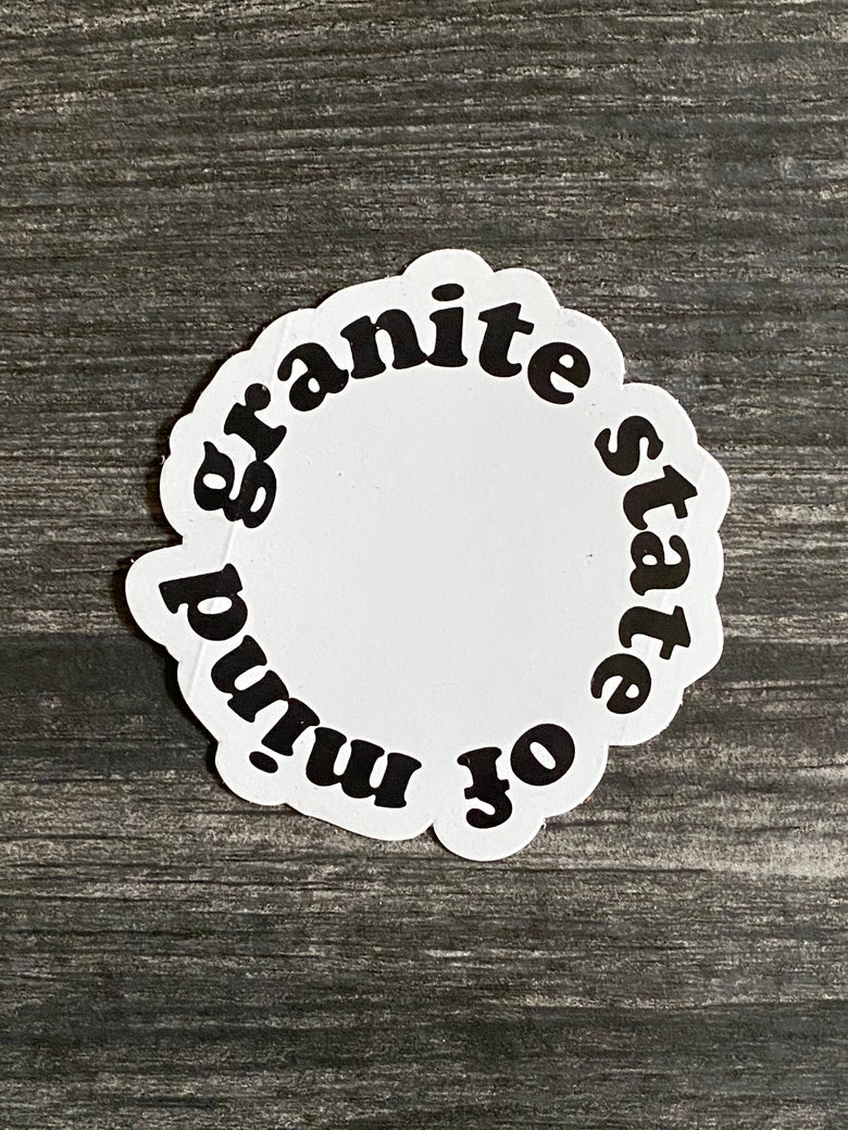 Image of Granite state of mind sticker 3""