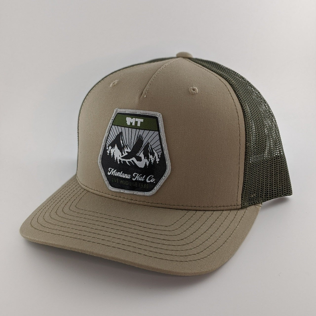 Image of Montana Eagle Patch Hat - Khaki / Loden Green