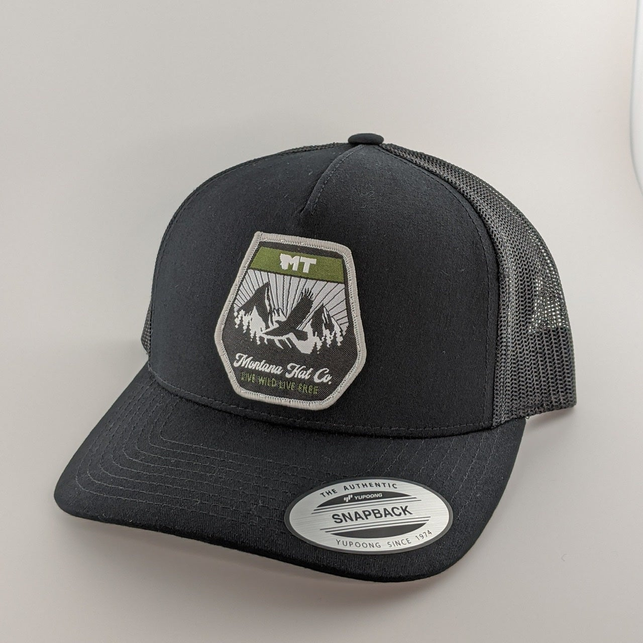 Image of Montana Eagle Patch Hat - Black