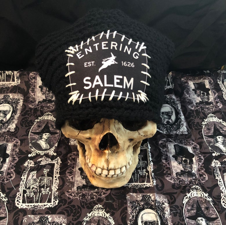 Image of Entering Salem Hand-Made Beanie