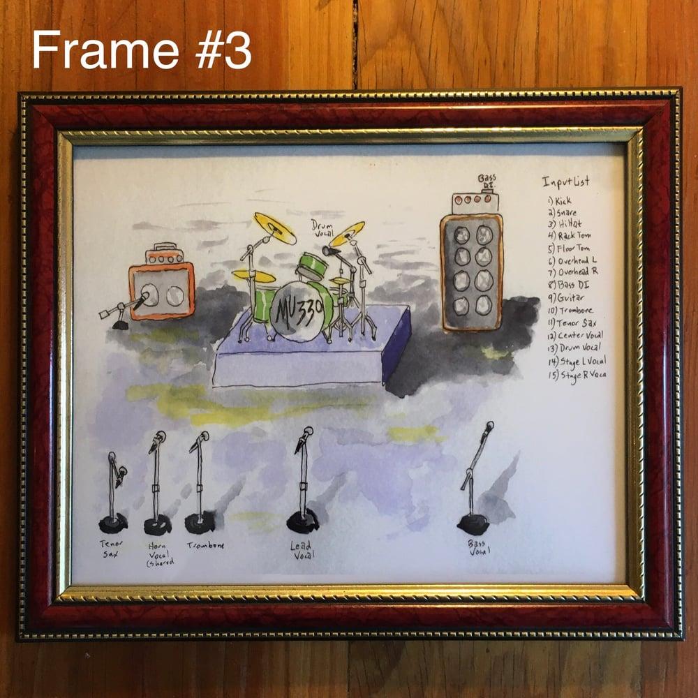 "Image of ""MU330 Stage Plot"" 8x10 Framed Print"