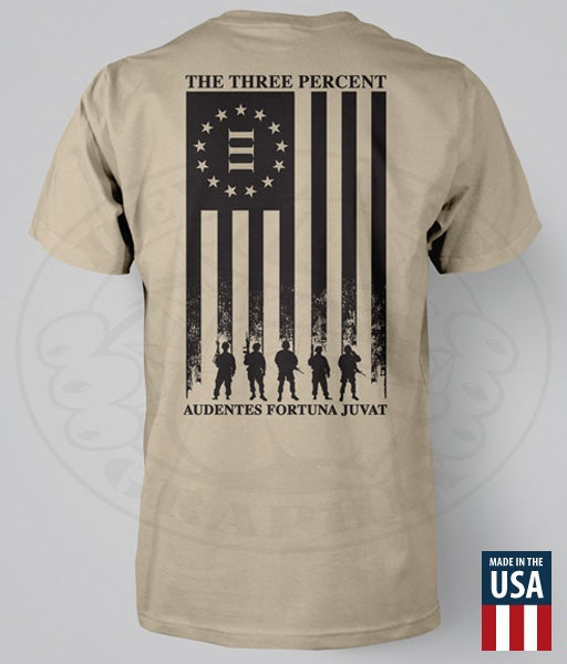 "Image of THE THREE PERCENT ""AMERICAN FLAG"" T-SHIRT"