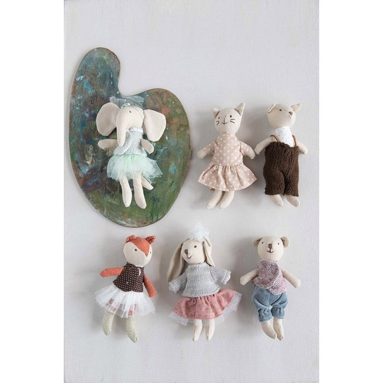 Image of Linen Mini Stuffed Animals