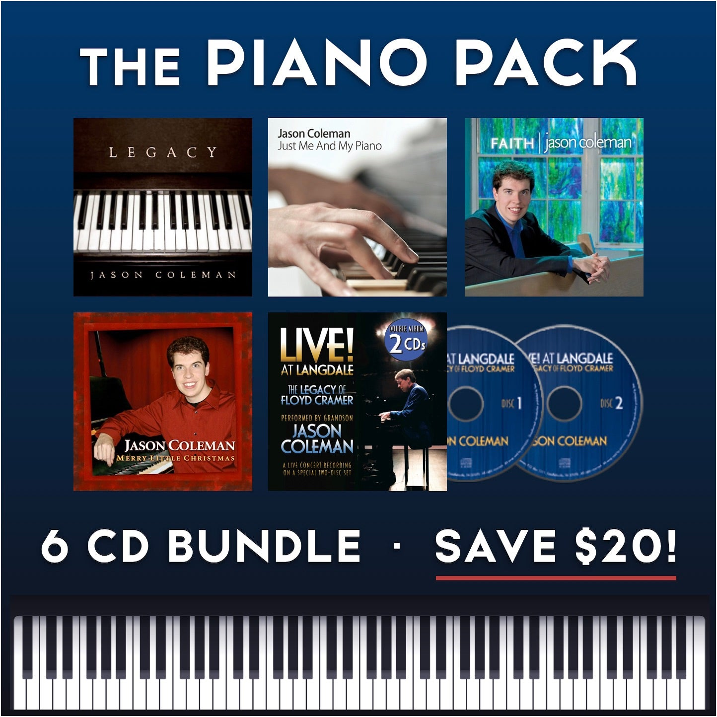 Image of The Piano Pack - 6 CD Bundle (Save $20!)