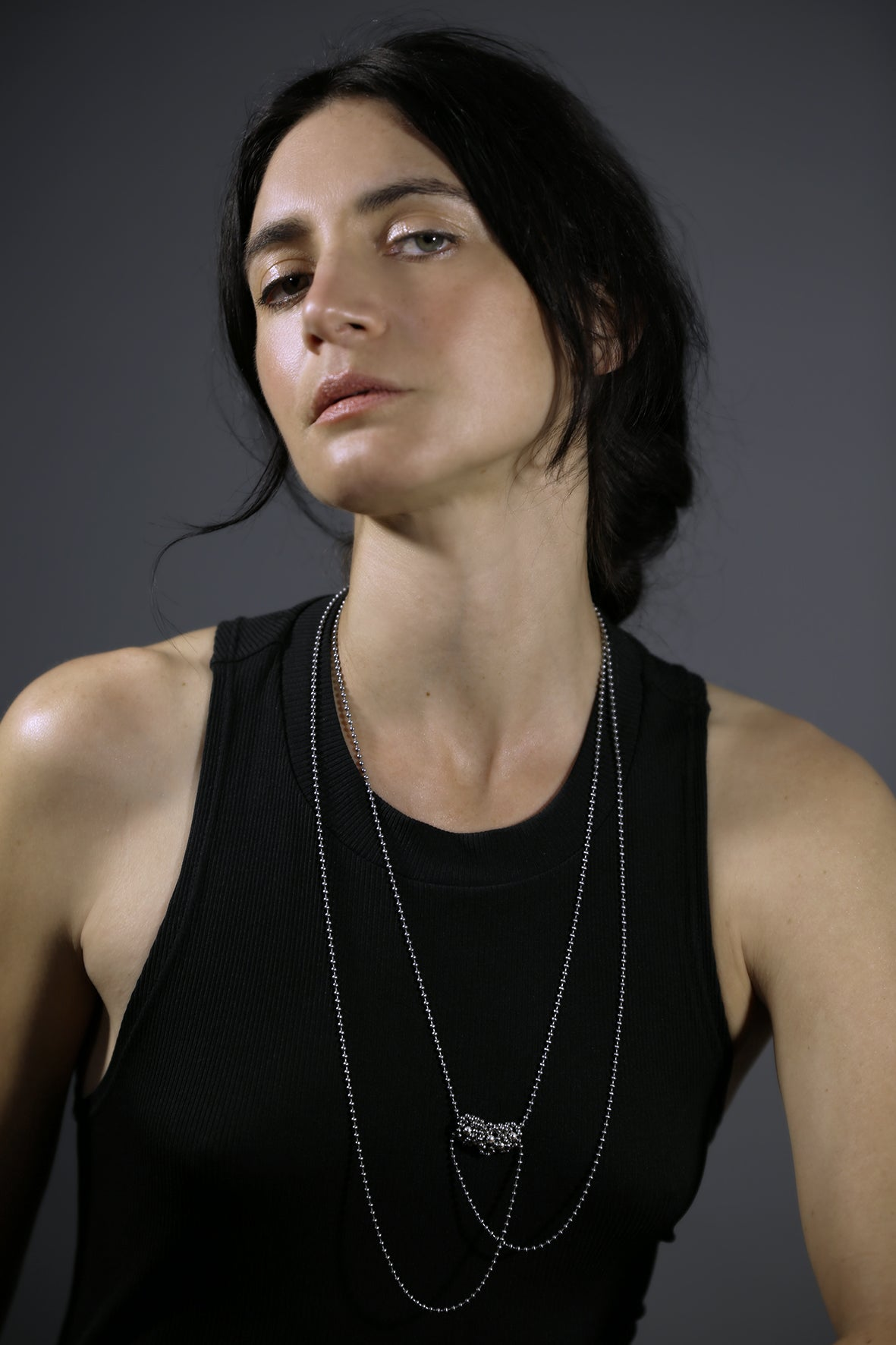 Image of STEEL+SILVER braid neckpiece