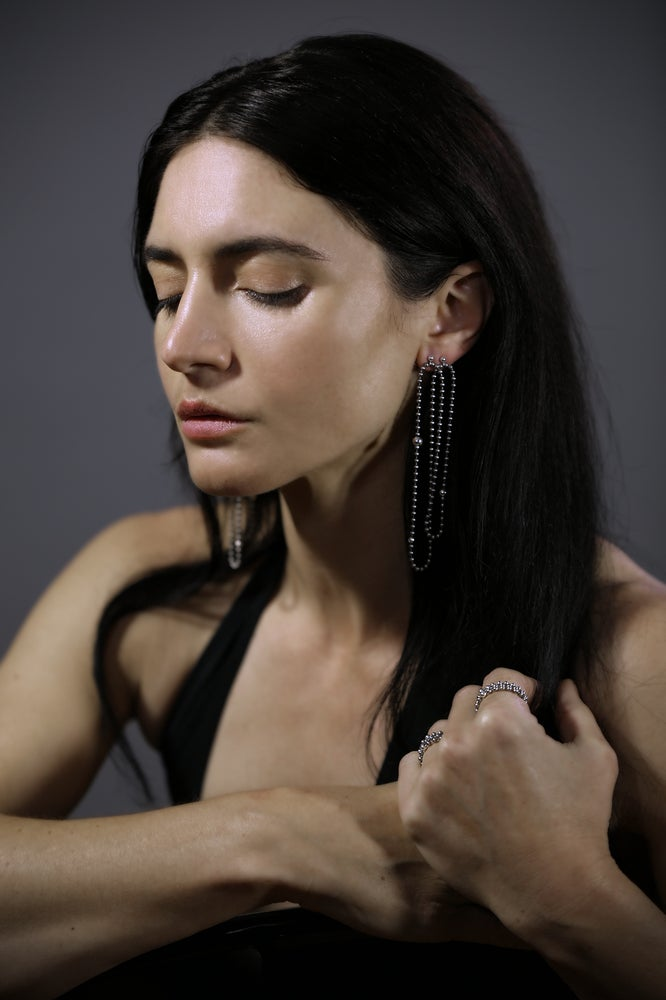 Image of STEEL+SILVER double earrings