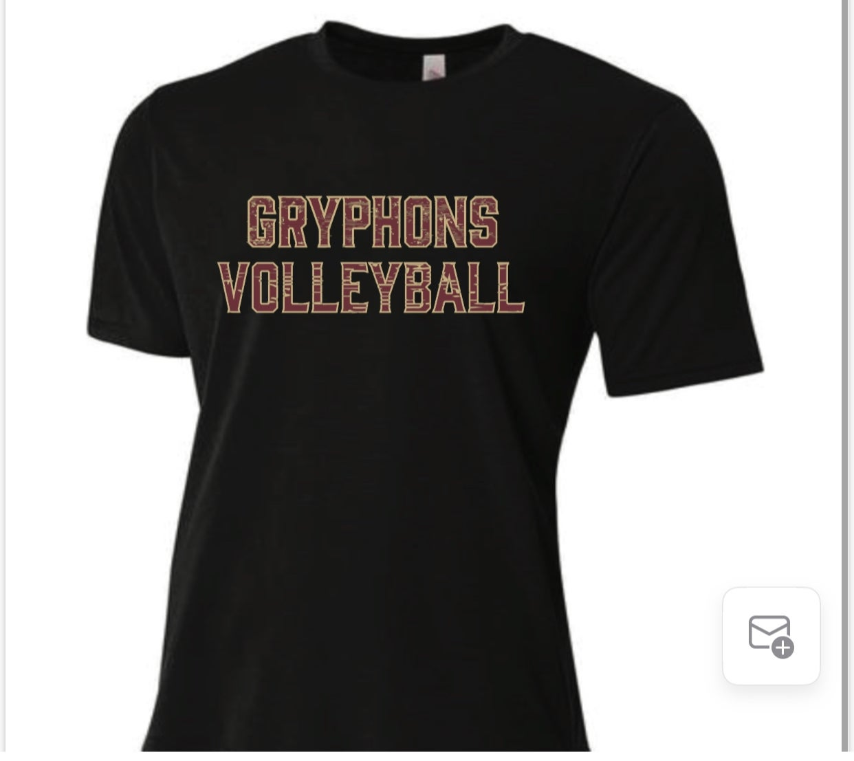Image of Gryphons Volleyball- SG Performance S/S Shirt (Middle)