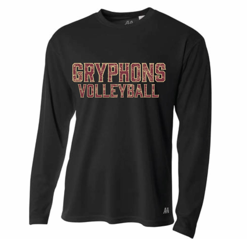 Image of Gryphons Volleyball Tee - Performance LONG Sleeve