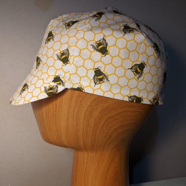 Image of Cotton cycling cap - honeybees