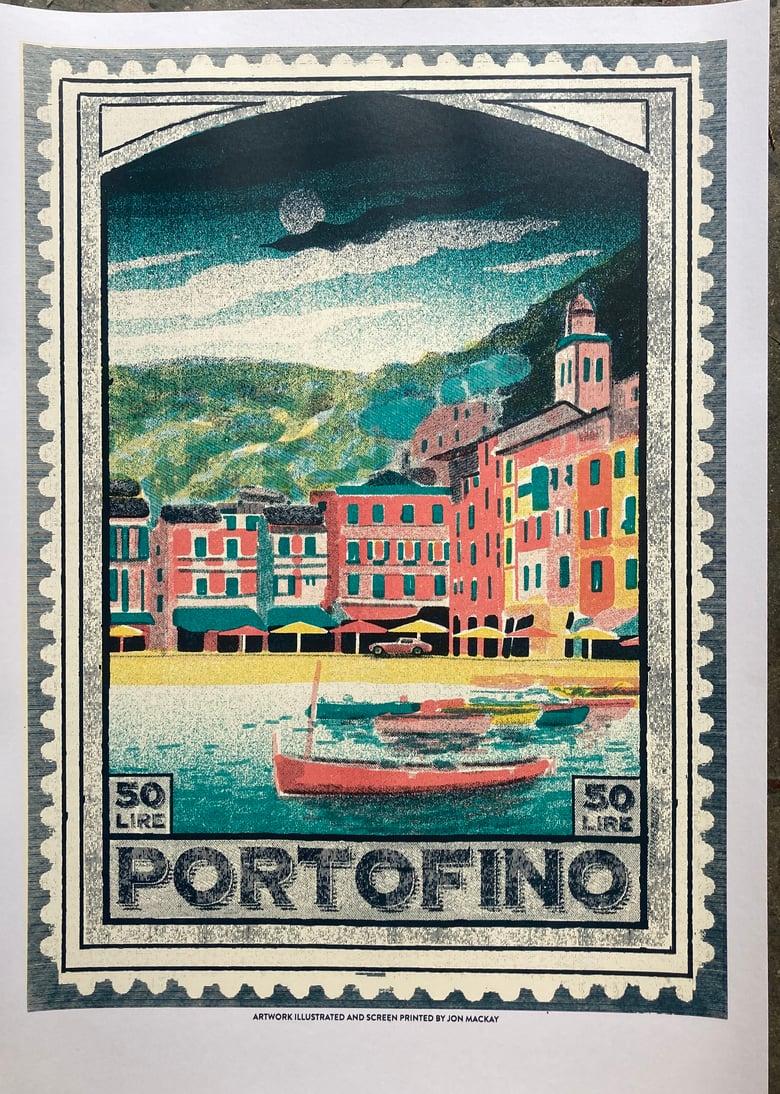 Image of Portofino - travel screen print