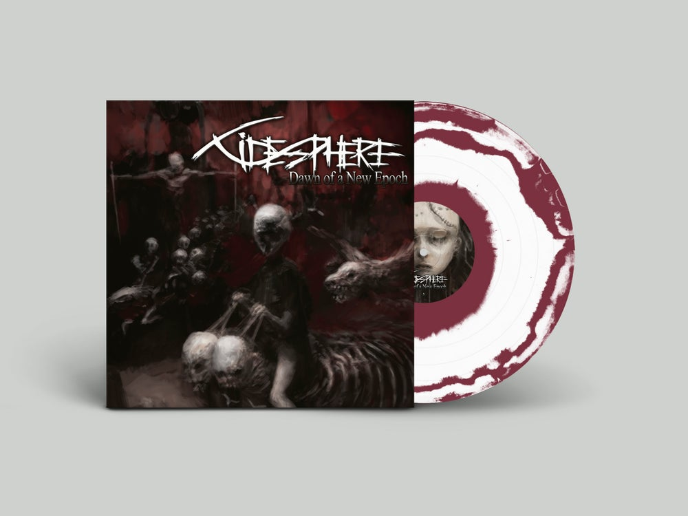 Image of Cidesphere • Dawn of a new Epoch (Maroon   White Swirl Vinyl)