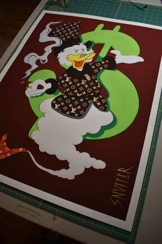 "Image of New Release! Original ""VUITTON McDUCK MAKE A WISH"" Limited Run Print signed and numbered"