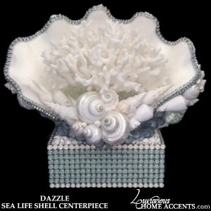 Image of Dazzle Sea Life Shell Centerpiece