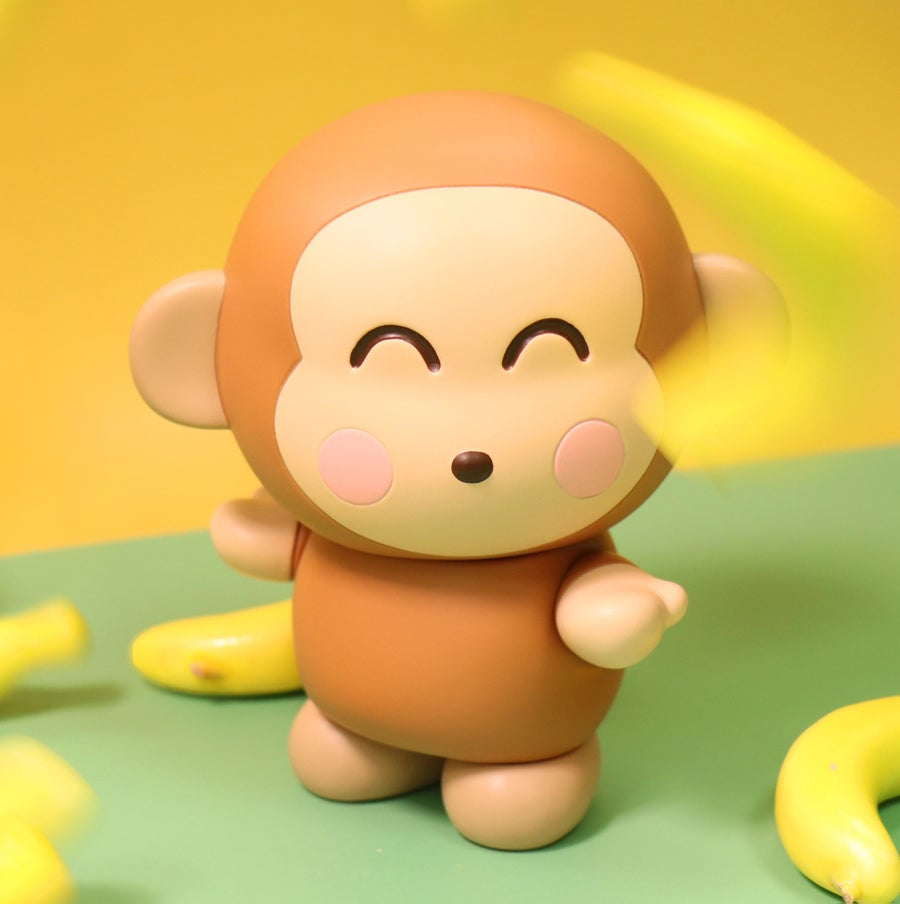Image of MONKICHI BANANA HAPPY EDITION SANRIO SOFT VINYL SERIES