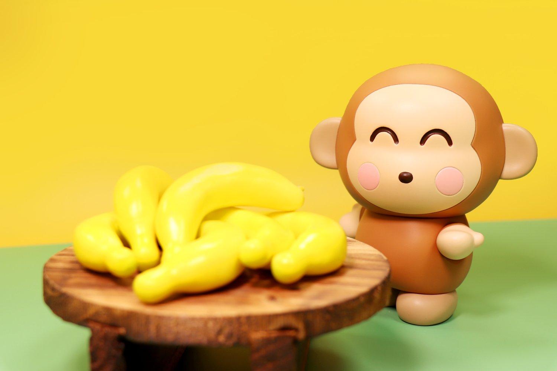 Image of MONKICHI BANANA HAPPY EDITION SANRIO SOFT VINYL SERIES