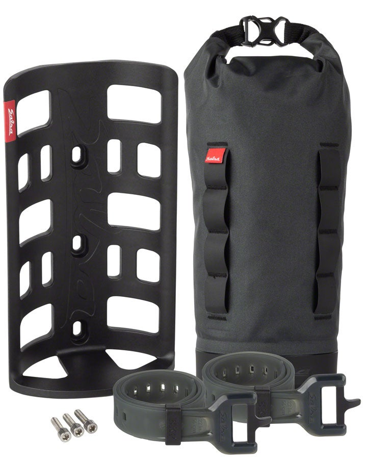 Salsa EXP Anything Cage HD with bag and straps