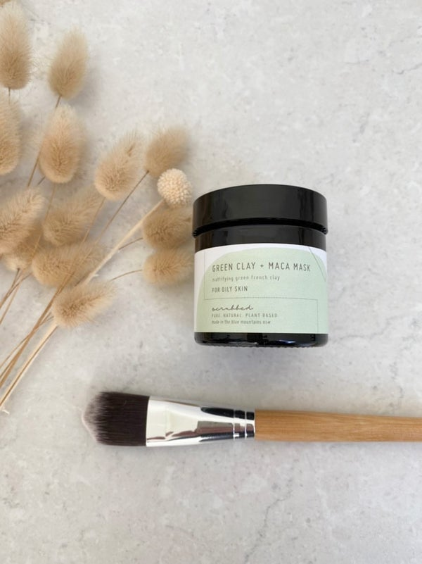 Image of Green Clay + Maca Mask Mattifying Green French Clay