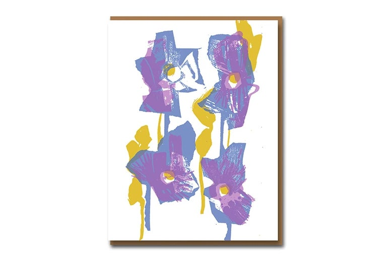 Image of Warhol Pansies - Greetings Card