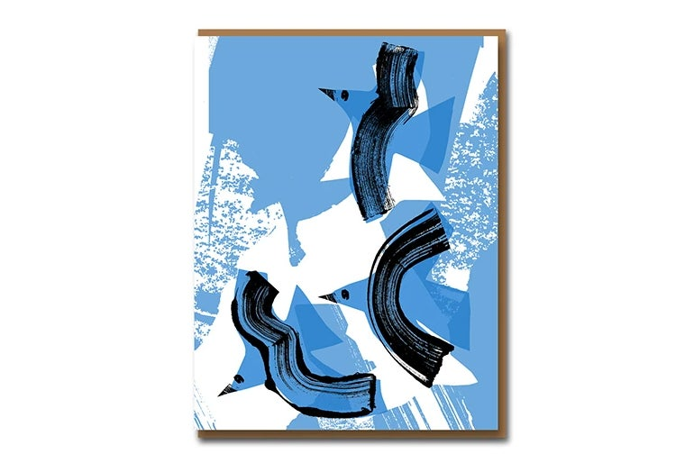 Image of Braque Birds - Greetings Card