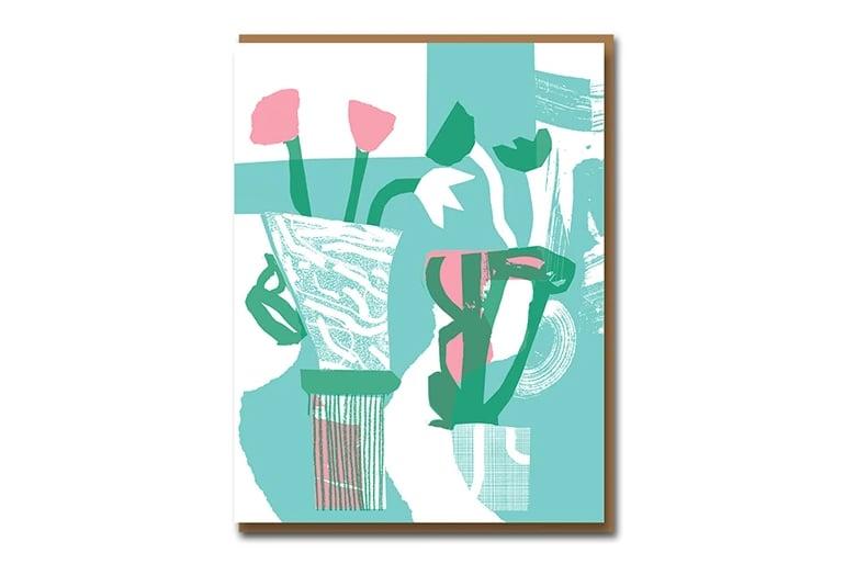 Image of Betty Woodman Vase - Greetings Card