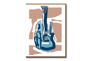 Image of Picasso Guitar - Greetings Card
