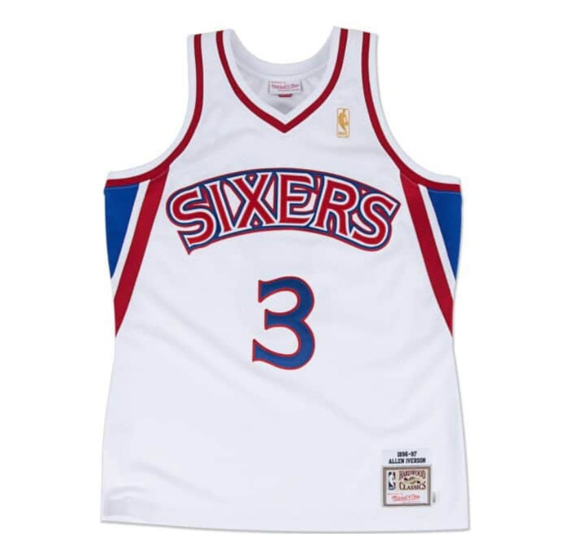 Image of Allen Iverson rookie jersey