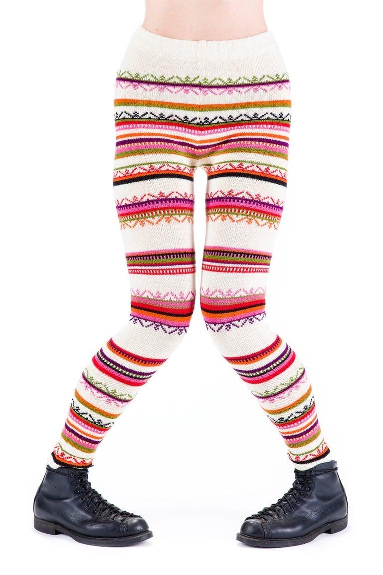 Image of WOOLEN LEGGINGS white