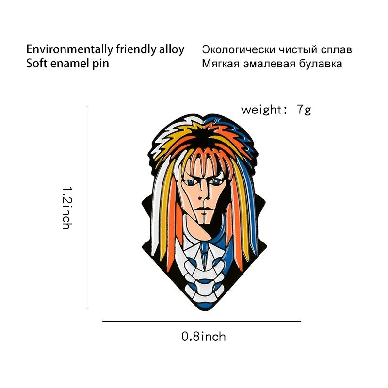 Jareth The Goblin King Enamel Pin/Badge (Labyrinth)