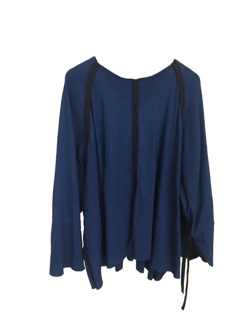 Image of OF1 Blouse - Indigo