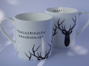 Image of Staggeringly Handsome English Fine Bone China Mug in Black