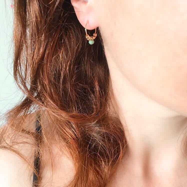 Boucles d'oreilles One