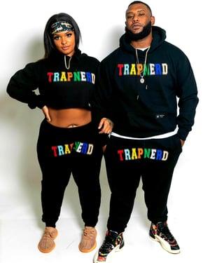 Image of TrapNerd Varsity Joggers (BLACK)