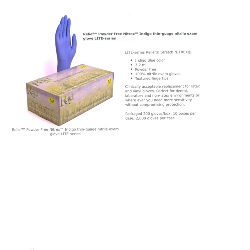 Image of Indigo thin-gauge nitrile exam glove , 200 gloves a box