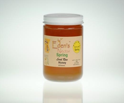 Eden's Nectar Raw Local Honey 1 lb Jar