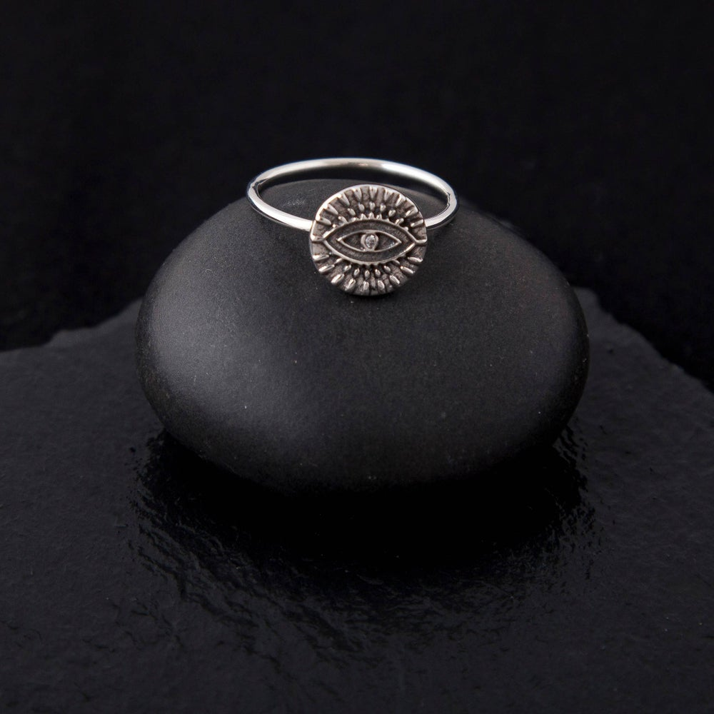 Image of Silver Evil Eye Ring