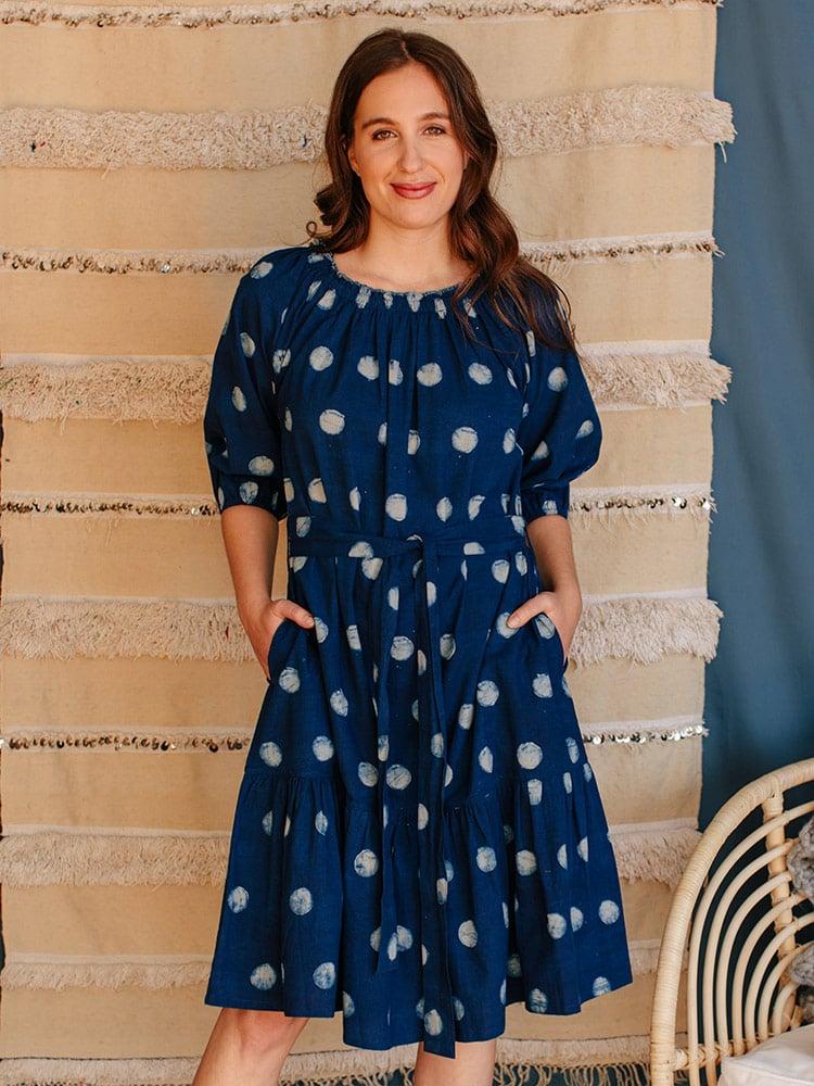 Image of Marnie Dress - Full Moon Batik