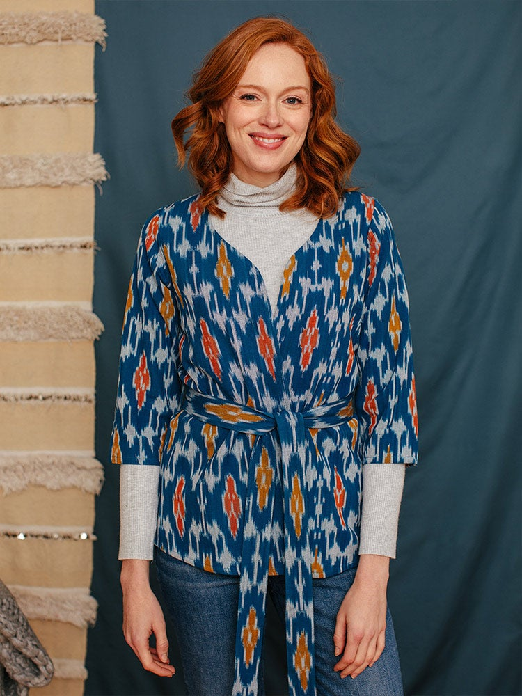 Image of Crossroads Jacket - Blue Ikat