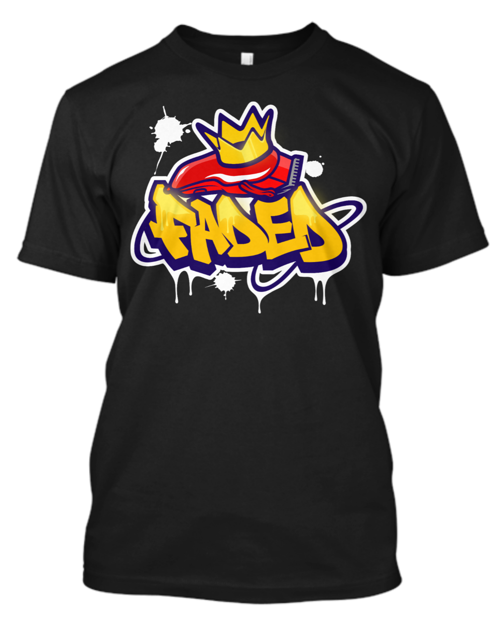 "Image of Official ""Faded King 2"" T-Shirt by ClipperGrinder Blade Sharpening"
