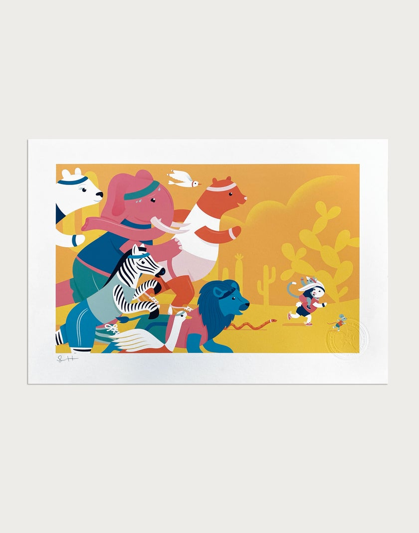 The Race Signed Print