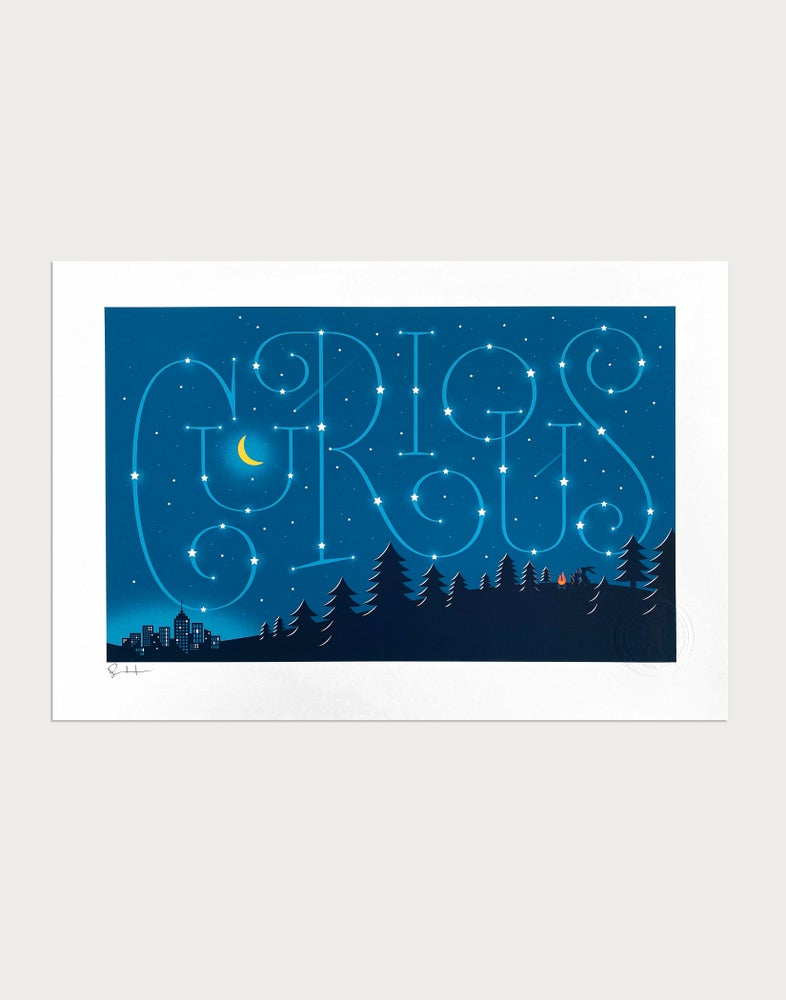 Image of Curious Signed Print
