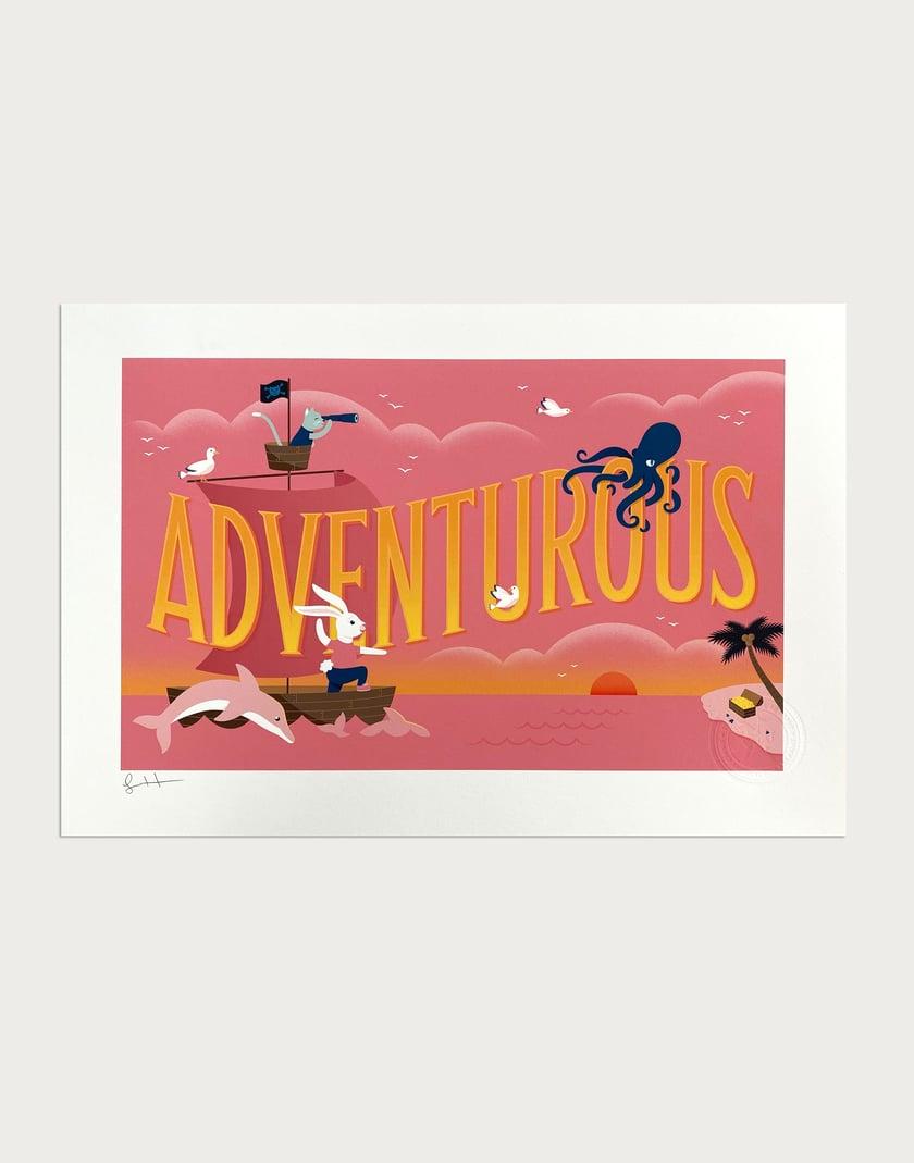 Adventurous Signed Print