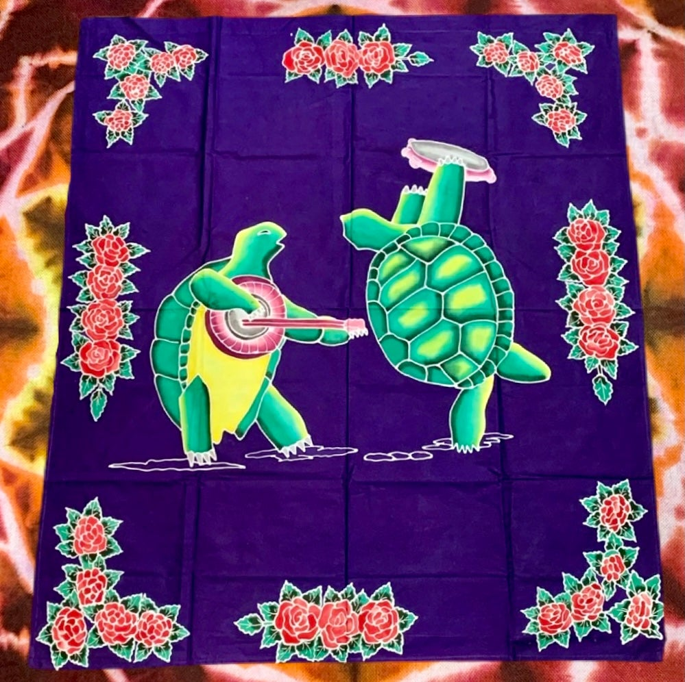 Terrapin & Roses Batik Tapestry! - On Sale!!