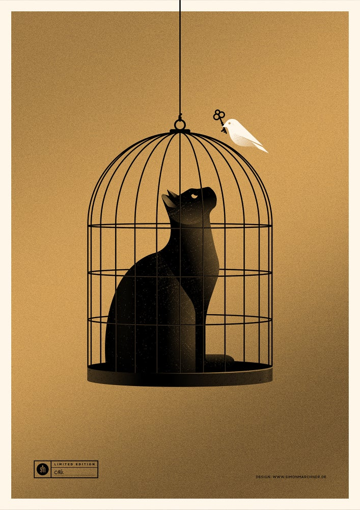 Image of Cat Cage Gold Version